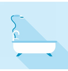 Digital bath with tap and shower spray vector