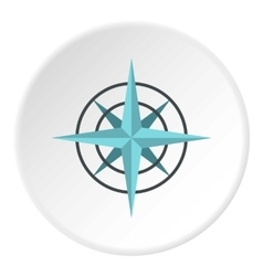 Sign of compass icon flat style vector
