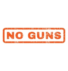 No guns rubber stamp vector