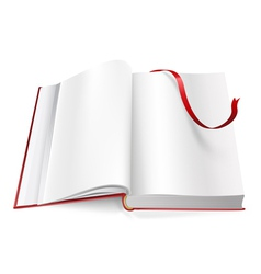 book with blank pages and sign vector image