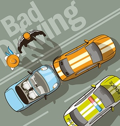 Bad drive vector image