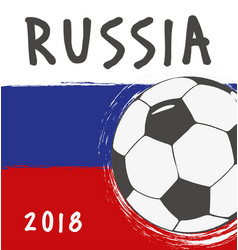Flag design for world cup russia vector