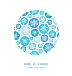 Round snowflakes circle decor pattern background vector