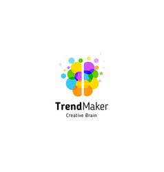 Trend maker abstract logo isolated vector