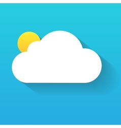 Day cloud and sun isolated on blue vector