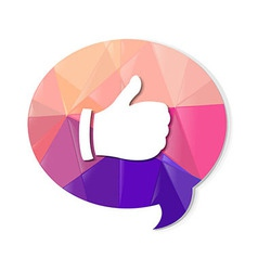 Colorful speech bubble with best choice symbol vector