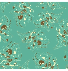 Seamless texture with abstract flowers pastel vector