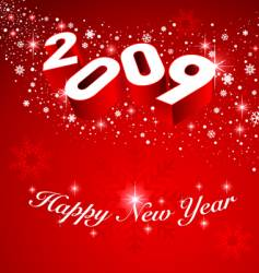 2009 new year snow background vector