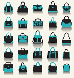 Fashion bags women handbags and business case vector