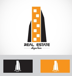 Real estate skyscraper logo vector