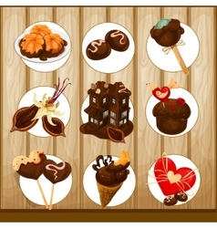 Decorative chocolate set vector