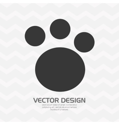 Foot print design vector