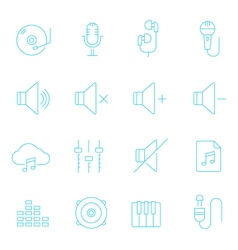 Thin lines icon set - audio vector