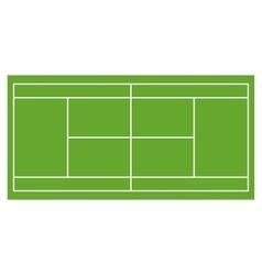 Tennis court grass field infographics app design vector