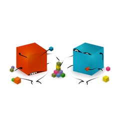 Funny toy blocks playing vector
