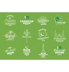 Pakistan independence day 14th august vector