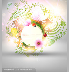 Abstract summer background vector