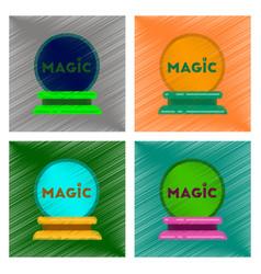 Assembly flat shading style icon magic ball vector