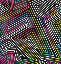 Bright neon seamless pattern vector