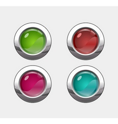 buttons cons vector image vector image