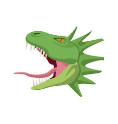 Cartoon head hydra mythological creature vector