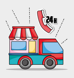 Delivery service business shipping express vector