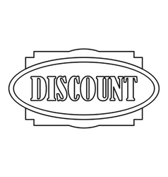 Discount label icon outline style vector