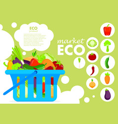 Eco products poster vector