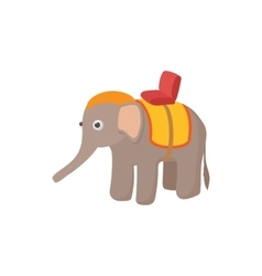 Elephant icon in cartoon style vector image vector image