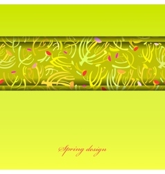 Green sprig background vector
