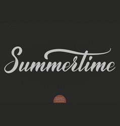 hand drawn lettering - summertime elegant modern vector image vector image