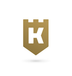 letter k shield logo icon design template elements vector image vector image