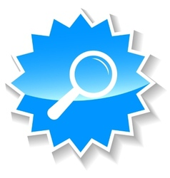 Loupe blue icon vector image vector image