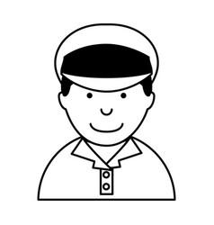 man taxi driver avatar vector image