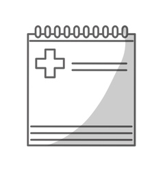 notepad icon image vector image