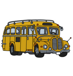 old yellow school bus vector image