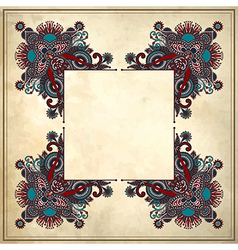 Ornamental floral pattern vector image vector image