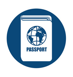 Pass document isolated icon vector