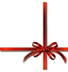 Red gift ribbon over white vector