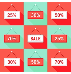 Sale 25 30 50 and 70 sign icons set vector