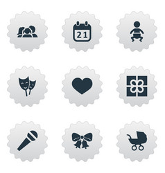 set of simple celebration vector image vector image
