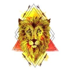 Sketch lion vector