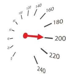 Speedometer scale icon cartoon style vector image vector image