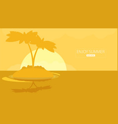 Summer vacation holiday tropical ocean island vector
