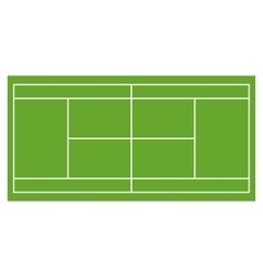 Tennis court grass field infographics app design vector image