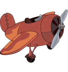 The old plane vector image