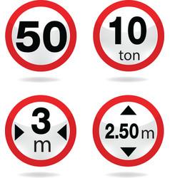 Traffic sign 8 vector