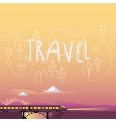 Train Summer Travel vector image