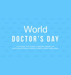 World doctorday card style collection vector