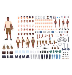 young guy character constructor adult male vector image